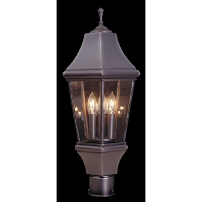 Normandy 3-Light Outdoor Lantern Post Finish: Iron