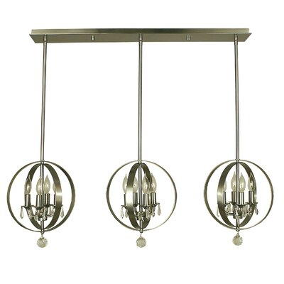 Constellation 12-Light Kitchen Island Pendant Color: Brushed Nickel