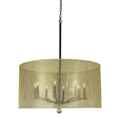 Simone 8-Light Drum Pendant Finish: Polished Nickel