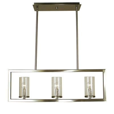 Theorem 3-Light Kitchen Island Pendant Color: Brushed Nickel