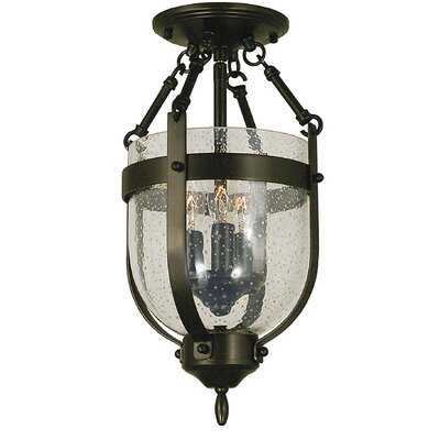 Hannover 3-Light Semi Flush Mount Color: Antique Brass