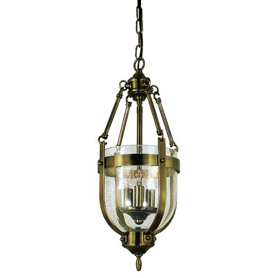 Hannover 3-Light Inverted Pendant Finish: Antique Brass