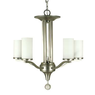Bellevue 5-Light Shaded Chandelier Finish: Polished Nickel