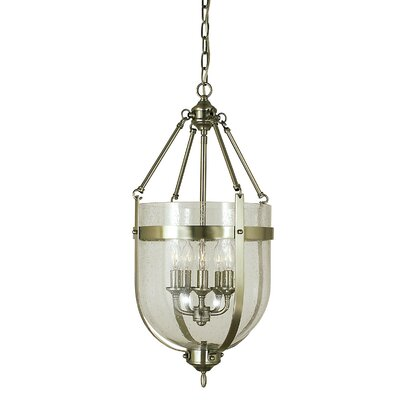 Hannover 5-Light Inverted Pendant Finish: Antique Brass