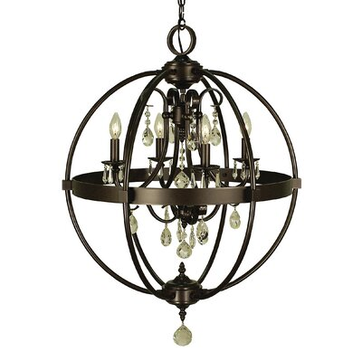 Compass 4-Light Foyer Pendant Finish: Brushed Nickel