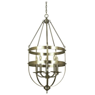 Hannover 5-Light Foyer Pendant Finish: Antique Brass