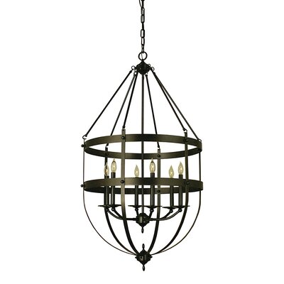 Hannover 6-Light Foyer Pendant Color: Antique Brass