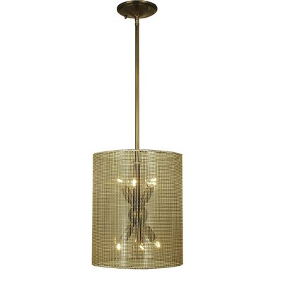 Simone 6-Light Drum Pendant Finish: Antique Brass