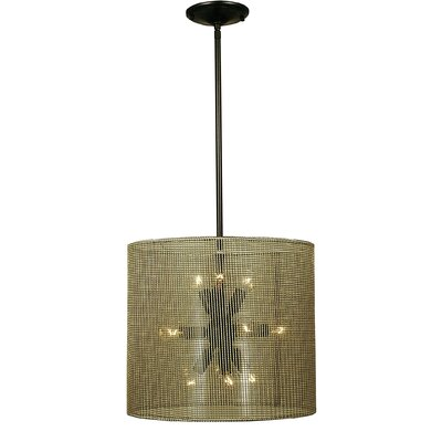 Simone 11-Light Drum Chandelier Finish: Antique Brass