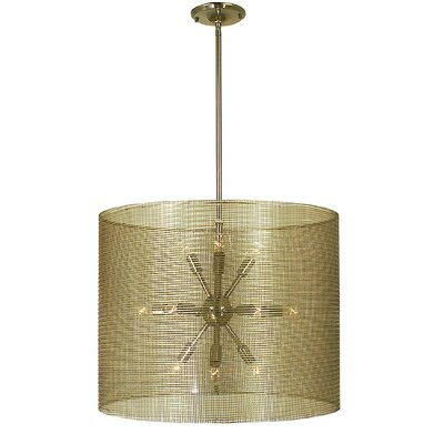 Simone 12-Light Drum Pendant Finish: Antique Brass