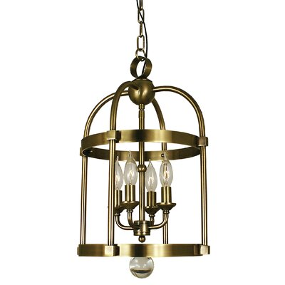 Compass 4-Light Foyer Pendant Finish: Antique Brass