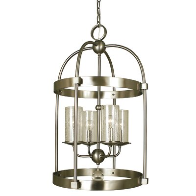 Compass 4-Light Foyer Pendant Color: Antique Brass