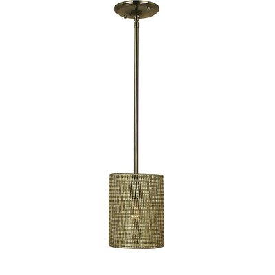 Simone 1-Light Mini Pendant Finish: Antique Brass