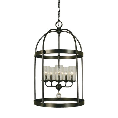 Compass 5-Light Foyer Pendant Finish: Matte Black