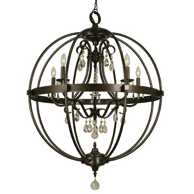 Compass 5-Light Foyer Pendant Finish: Mahogany Bronze