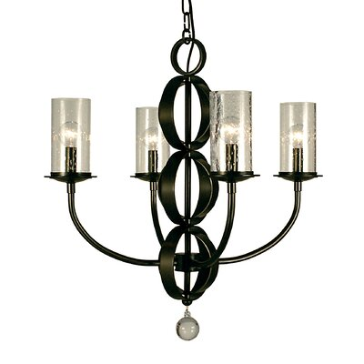 Compass 4-Light Candle-Style Chandelier Color: Matte Black