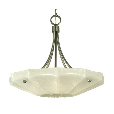 Veronique 4-Light Shaded Chandelier Finish: Polished Nickel