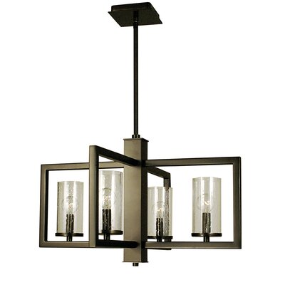Theorem 4-Light Pendant Finish: Matte Black