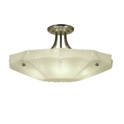 Veronique 4-Light Semi Flush Mount Finish: Antique Brass