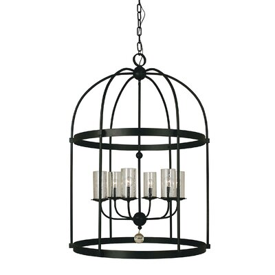 Compass 6-Light Foyer Pendant Color: Matte Black