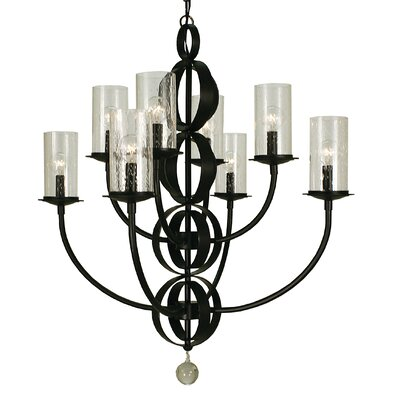 Compass 8-Light Candle-Style Chandelier Color: Matte Black