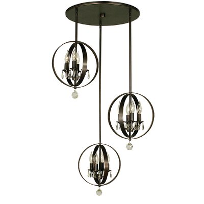 Constellation 12-Light Cascade Pendant Finish: Brushed Nickel