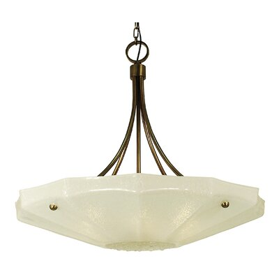 Veronique 6-Light Bowl Pendant Finish: Antique Brass