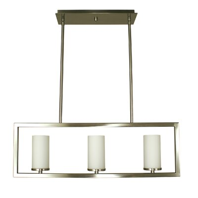 Theorem 3-Light Kitchen Island Pendant Finish: Brushed Nickel