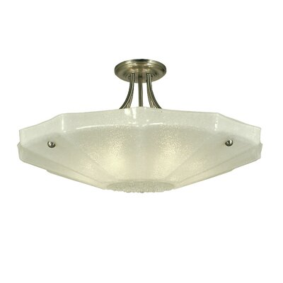 Veronique 6-Light Semi Flush Mount Finish: Antique Brass