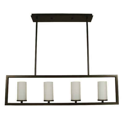Theorem 4-Light Kitchen Island Pendant Finish: Brushed Nickel