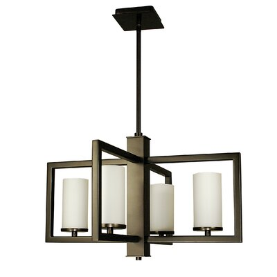 Theorem 4-Light Foyer Pendant Color: Matte Black
