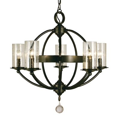 Compass 5-Light Candle-Style Chandelier Finish: Matte Black