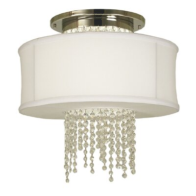 Angelique 1-Light Semi Flush Mount Finish: Brushed Nickel