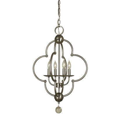Quatrefoil 4-Light Foyer Pendant Color: Brushed Nickel
