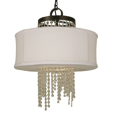Angelique 4-Light Drum Chandelier Finish: Mahogany Bronze