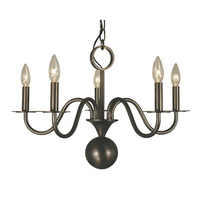 Jamestown 5-Light Candle-Style Chandelier Finish: Siena Bronze