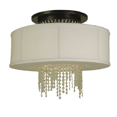 Angelique 1-Light Semi Flush Mount Finish: Mahogany Bronze