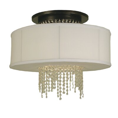 Angelique 4-Light Semi Flush Mount Finish: Polished Nickel