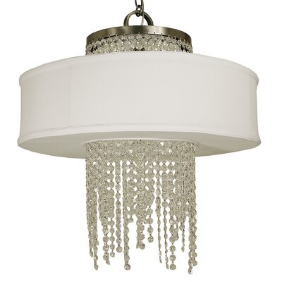 Angelique 4-Light Drum Chandelier Finish: Polished Nickel