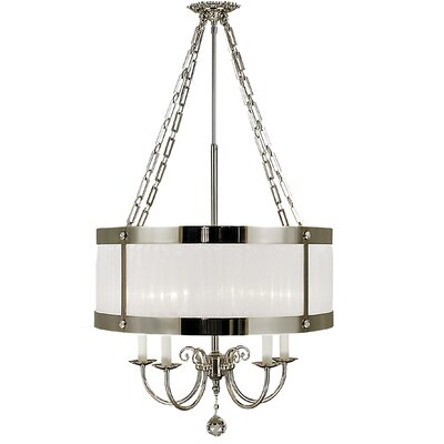 Astor 4-Light Drum Chandelier Finish: Satin Brass