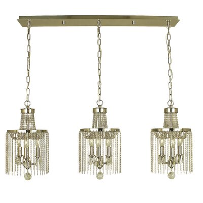 Guinevere 9-Light Kitchen Island Pendant Finish: Brushed Nickel