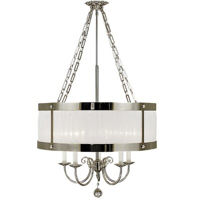 Angelique 5-Light Drum Pendant Color: Satin Brass