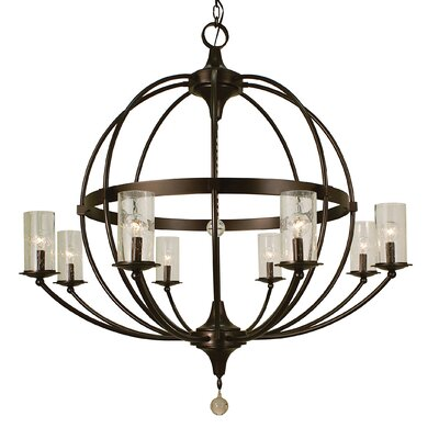 Compass 8-Light Candle-Style Chandelier Finish: Matte Black