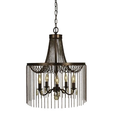 Guinevere 5-Light Candle-Style Chandelier Finish: Mahogany Bronze