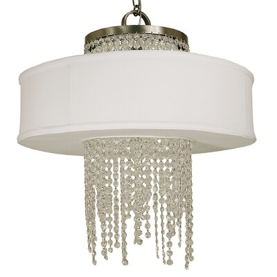 Angelique 4-Light Drum Pendant Finish: Brushed Nickel