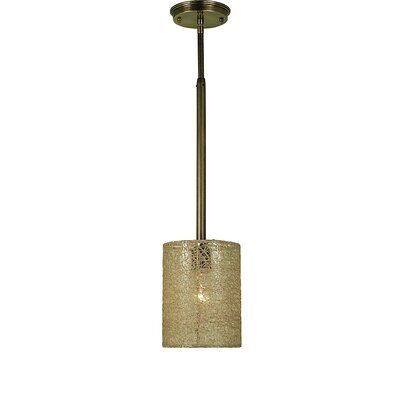 Chloe 1-Light Mini Pendant Finish: Antique Brass