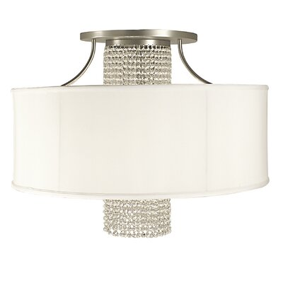 Angelique 4-Light Flush Mount Shade Color: Chocolate, Crystal Color: Teak