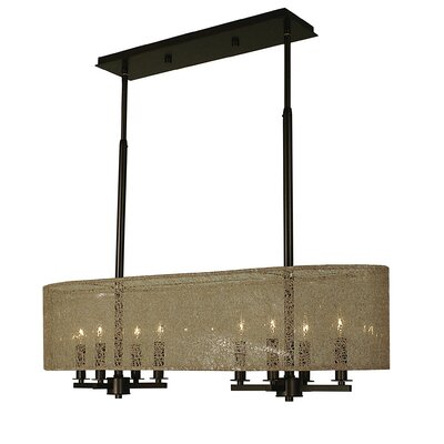 Chloe 8-Light Kitchen Island Pendant Finish: Antique Brass