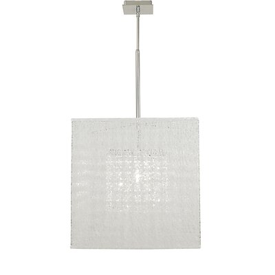 Chloe 1-Light Mini Pendant Finish: Polished Silver, Shade Color: Champagne, Size: 18 H x 18 W x 18 D
