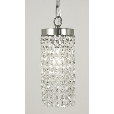 Princessa 1-Light Mini Pendant Finish: Polished Silver